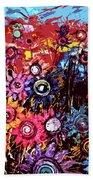 Flower Garden Beach Towel by Karen Elzinga
