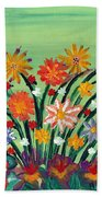 Flower Garden Beach Towel