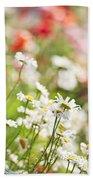 Flower Meadow Beach Towel by Elena Elisseeva