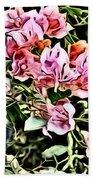 Flower Painting 0003 Beach Towel