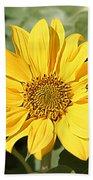 Flower Painting 0010 Beach Towel