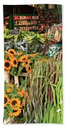 Flower Shop In Amsterdam Beach Towel