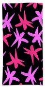 Flower Stars  Beach Towel by Louisa Knight