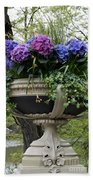 Flowerpot With Hydrangea Beach Towel