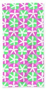 Flowers And Spots  Beach Towel