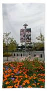 Flowers At Citi Field Beach Towel by Rob Hans