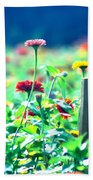 Flowers Everywhere Beach Towel