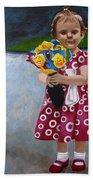 Flowers For Mum Beach Sheet