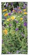 Flowers In Charlottenburg Palace Garden Beach Towel