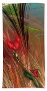 Flowers In The Grass Beach Towel