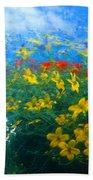 Flowery Sky Beach Towel