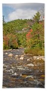 Flowing Into Autumn Beach Towel