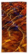 Flowing Water Of The Elwha Beach Towel