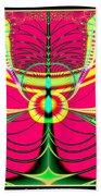 Fluorescent Butterfly Fractal 68 Beach Towel
