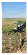 Flying Baby Pandas. North Dakota. Beach Towel