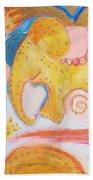 Flying Elephant Beach Towel