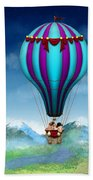 Flying Pig - Balloon - Up Up And Away Beach Sheet