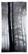 Foggy Woods Ireland Beach Towel