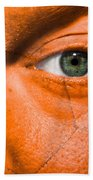 Football Scars Beach Towel by Semmick Photo