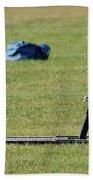 Football Sled Beach Towel