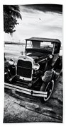 Ford Model T Film Noir Beach Towel by Bill Cannon