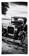 Ford Model T Film Noir Beach Towel