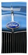 Ford Truck Emblem Beach Towel