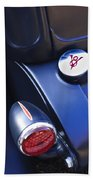 Ford V8 Taillight And Gas Cap Beach Towel