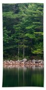 Forest At Jordan Pond Acadia Beach Towel
