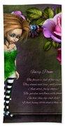 Forest Fairy Jn The Rose Garden Beach Towel