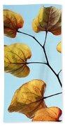 Forest Pansy Autumn Beach Towel