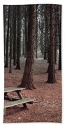 Forest Table Beach Towel