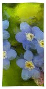 Forget-me-not Flower Beach Towel