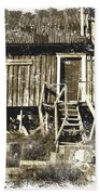 Forgotten Wooden House Beach Towel