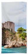 Fort Lovrijenac In Dubrovnik Beach Towel