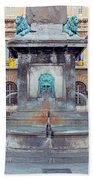 Fountain In Arles France Beach Towel