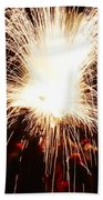 Fountain Of Sparks Beach Towel