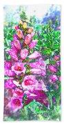 Foxglove Floral Beach Towel