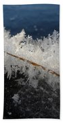 Fractal Frosty Ice Crystals Beach Towel