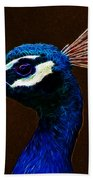 Fractalius Peacock Beach Towel