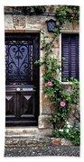 Framed In Flowers Dordogne France Beach Towel