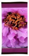 Framed In Purple - Abstract Floral Beach Sheet