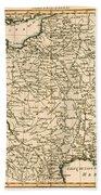 France By Regions Beach Towel