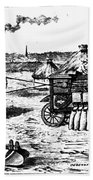 France: Steam Threshing Beach Towel