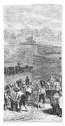 France: Wine Harvest, 1871 Beach Towel