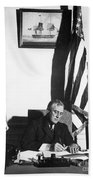 Franklin D. Roosevelt, 32nd American Beach Towel