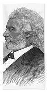 Frederick Douglass (c1817-1895). American Abolitionist. Wood Engraving, American, 1877 Beach Towel