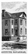 Freedmen School, 1868 Beach Towel