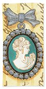 French Cameo 1 Beach Towel
