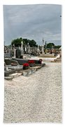 French Cemetery  Beach Towel